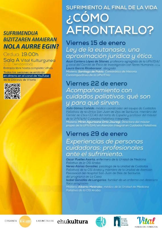 Jornadas Universitarias centradas en los cuidados paliativos- DIÓCESIS VITORIA