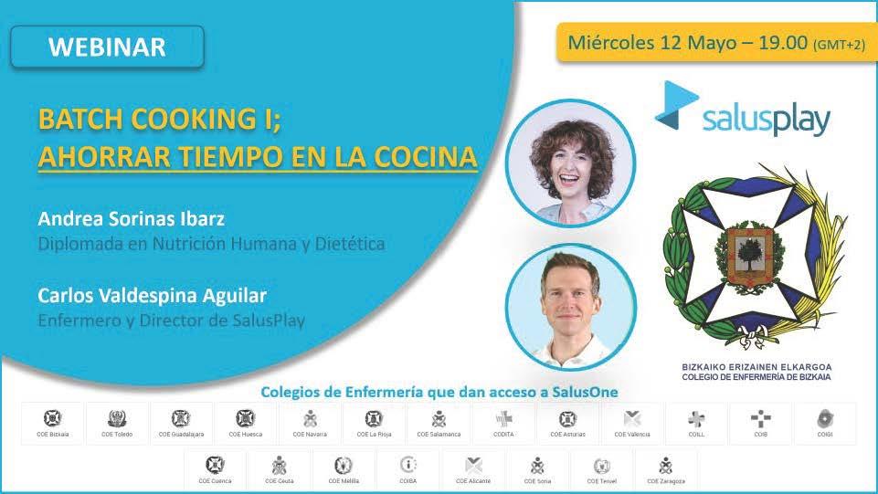 WEBINAR: BATCH COOKING I; CÓMO AHORRAR TIEMPO EN LA COCINA