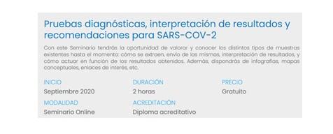 SEMINARIO: PRUEBAS DIAGNÓSTICAS, Interpretación de resultados y recomendaciones para SARS-COV-2