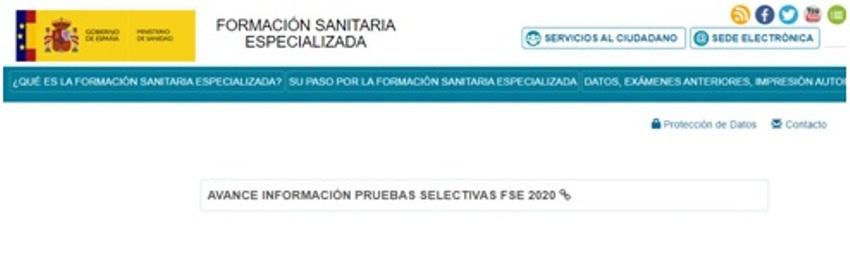 AVANCE DE INFORMACIÓN PRUEBAS SELECTIVAS FSE 2020