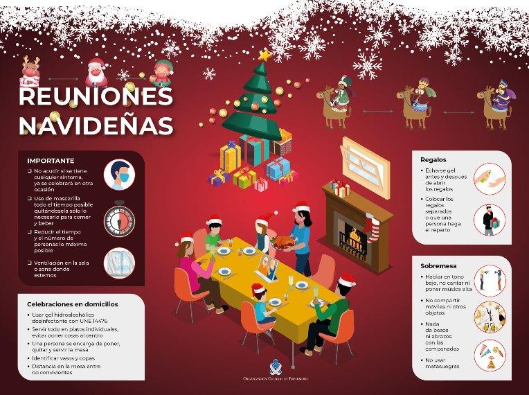 Las enfermeras ofrecen claves y recomendaciones para evitar los contagios de coronavirus en las celebraciones navideñas en los domicilios