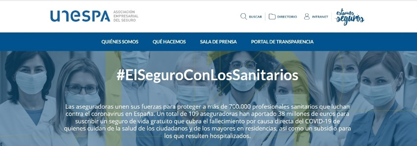 FONDO UNESPA PARA FALLECIMIENTO Y HOSPITALIZACIÓN DE PROFESIONALES SANITARIOS AFECTADOS POR EL COVID-19